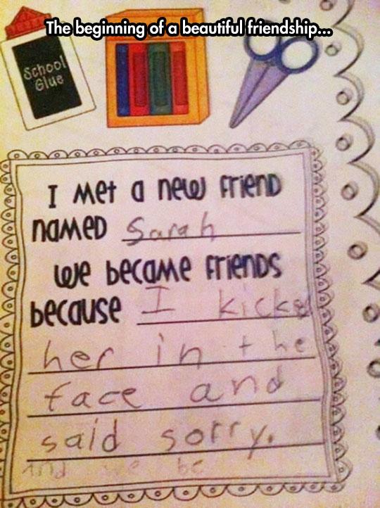 funny-friend-kid-letter-school