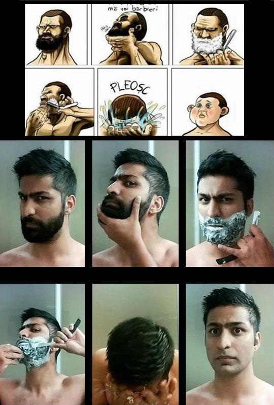 funny-friend-shave-comic-beard