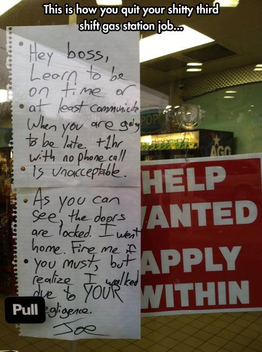 Classy Response To His Boss