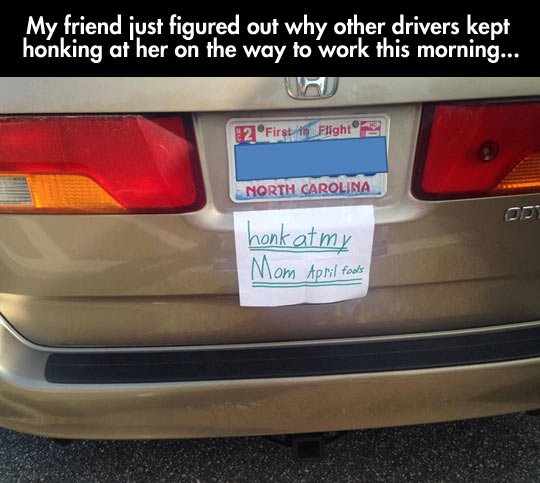Honk If This Kid's Got An Awesome Sense Of Humor