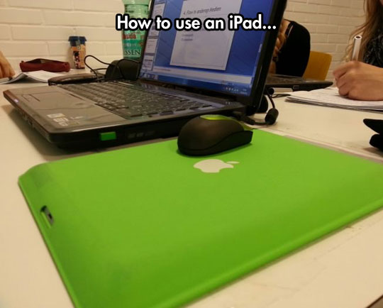 One Of The iPad's Many Uses