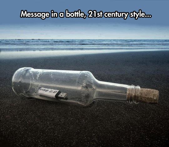 Modern Message In a Bottle
