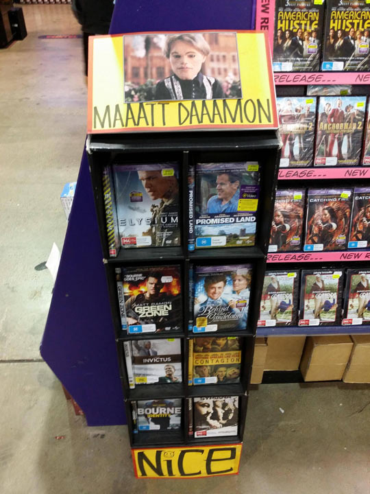 The Best Way To Advertise Matt Damon Movies