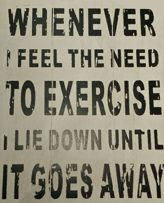 Whenever I Think About Exercise