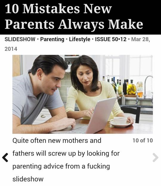 Best Parenting Advice Ever