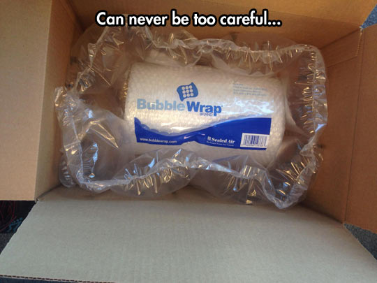 Sweet, Extra Bubble Wrap For Free!