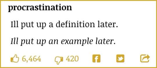Procrastination essay examples