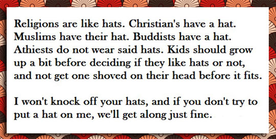 Religions Are Like Hats