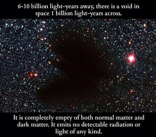 A Void In Space That Matters