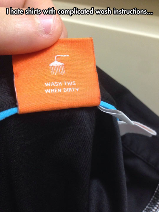 Complicated Washing Instructions