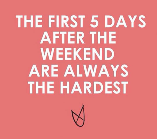 funny-weekend-days-hardest-quote