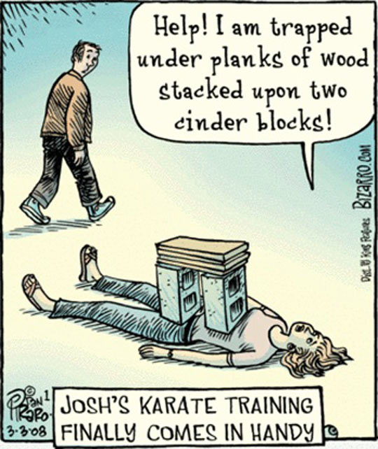Karate Training Comes In Handy