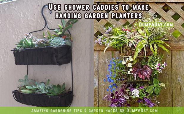 DumpADay-Garden-Hacks-Shower-caddy-planters