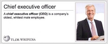 So that's what a CEO is