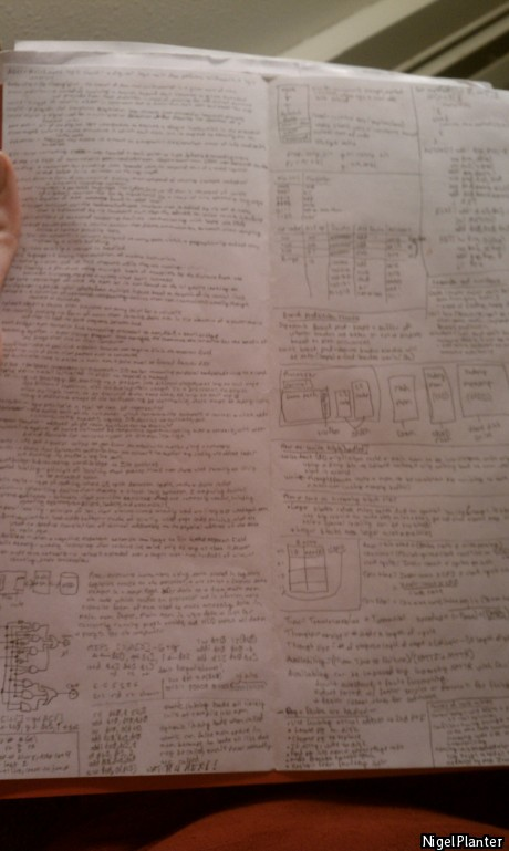 When the teacher says you can use a page of notes on the final