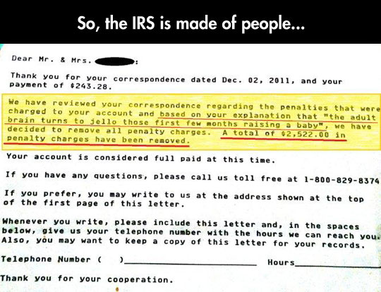 Some Good Guys Work At The IRS