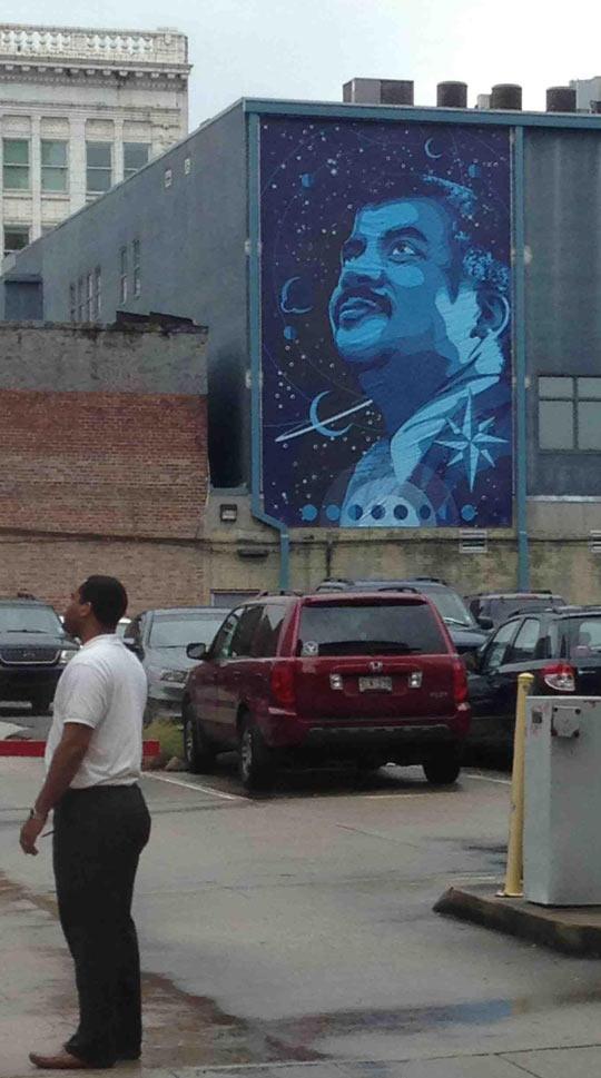 Neil deGrasse Tyson Graffiti In Downtown Baton Rouge