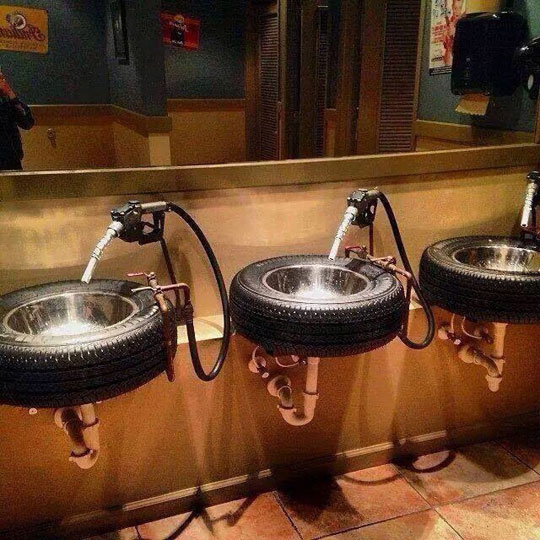 cool-bathroom-sink-tire-gas-pump