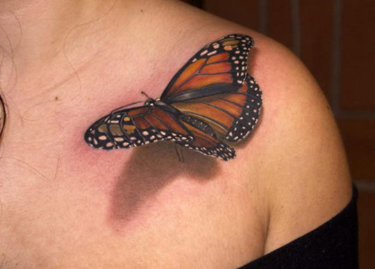 cool-butterfly-tattoo-3D-shadow