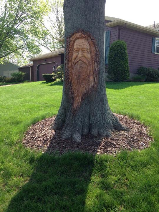 Carved Tree In The Neighborhood