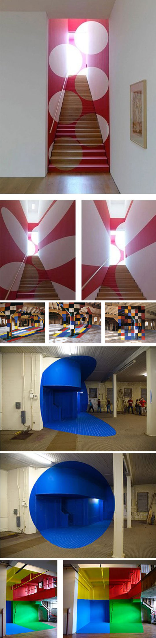 cool-colors-art-angle-stairs-design
