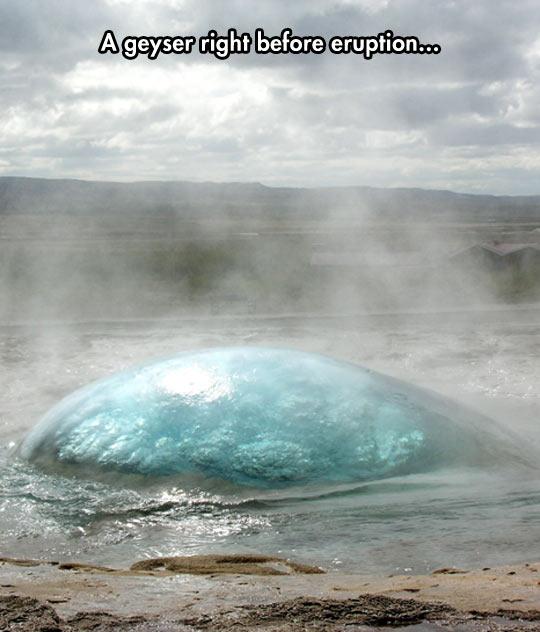 Amazing Geyser In Iceland