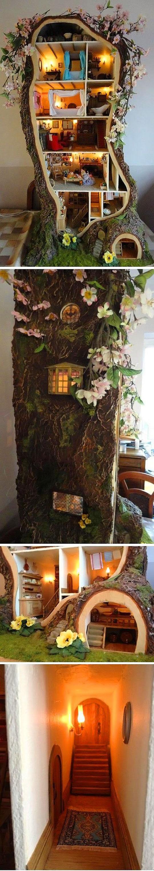 Amazing Miniature Mouse Tree Dolls House