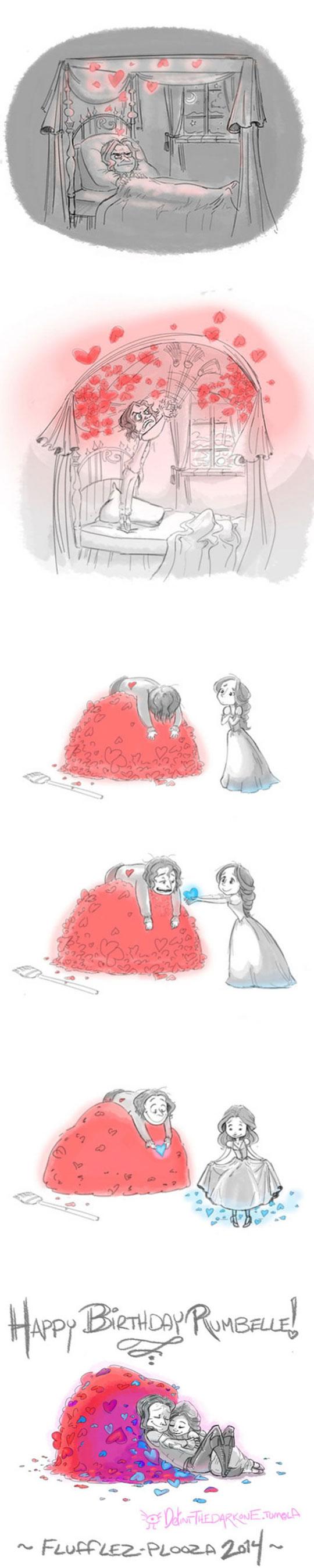 cool-story-cartoon-love-hearts-maid-happy