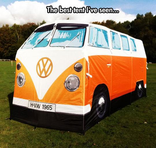 cool-tent-Volkswagen-van-park