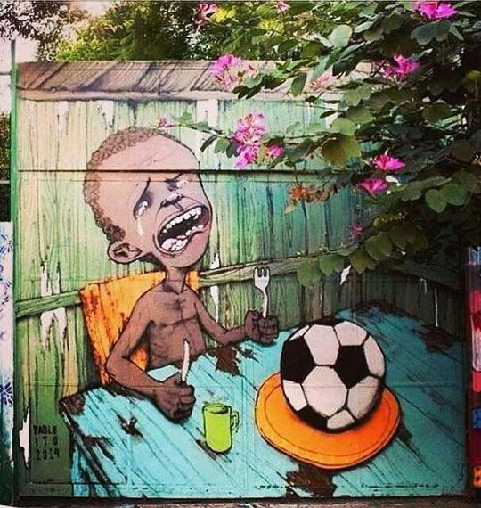 funny-Brazil-graffiti-kid-hunger