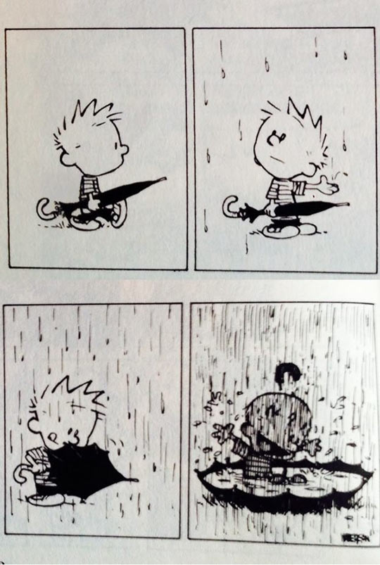 funny-Calvin-rain-umbrella-playing-comic