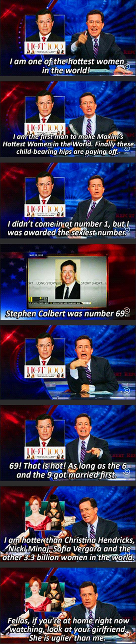 Colbert Finally Made It