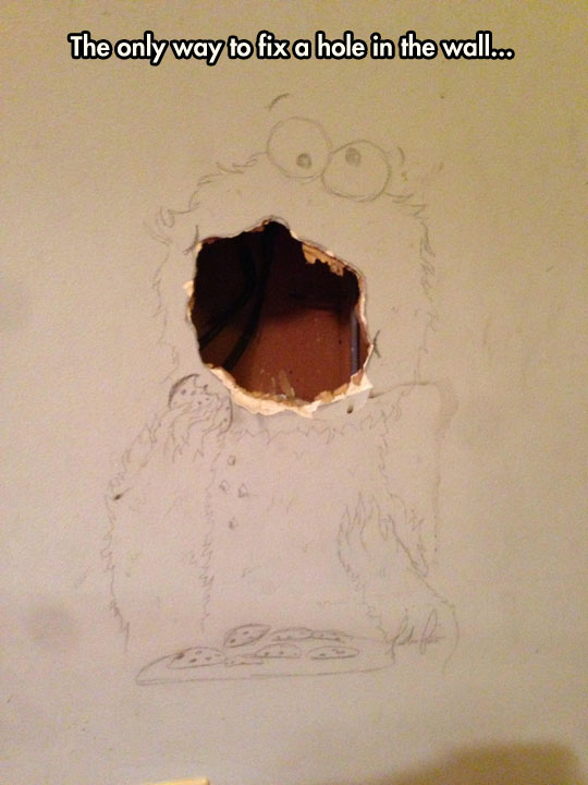 funny-Cookie-Monster-wall-hole-drawing