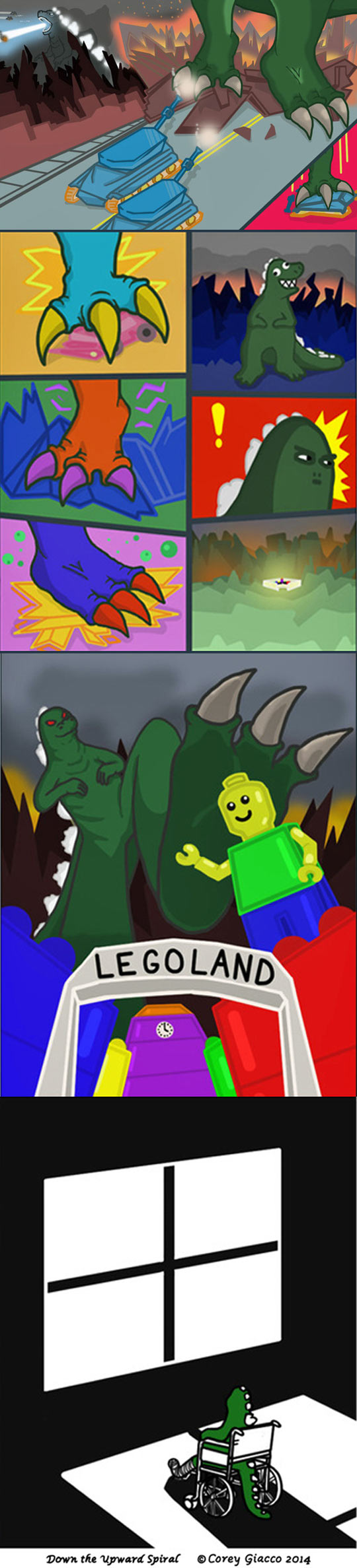 funny-Godzilla-tank-destroying-city-comic