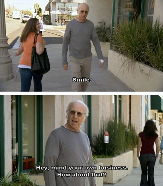 Larry David Doesn't Smile For Anyone