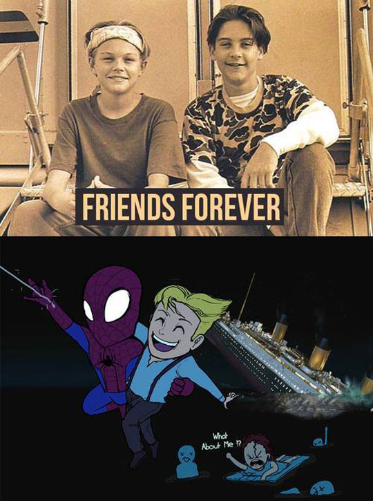 funny-Leonardo-DiCaprio-Tobey-Spiderman-Titanic-cartoon