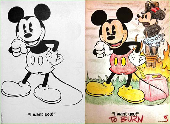 funny-Mickey-Mouse-drawing-burn-evil