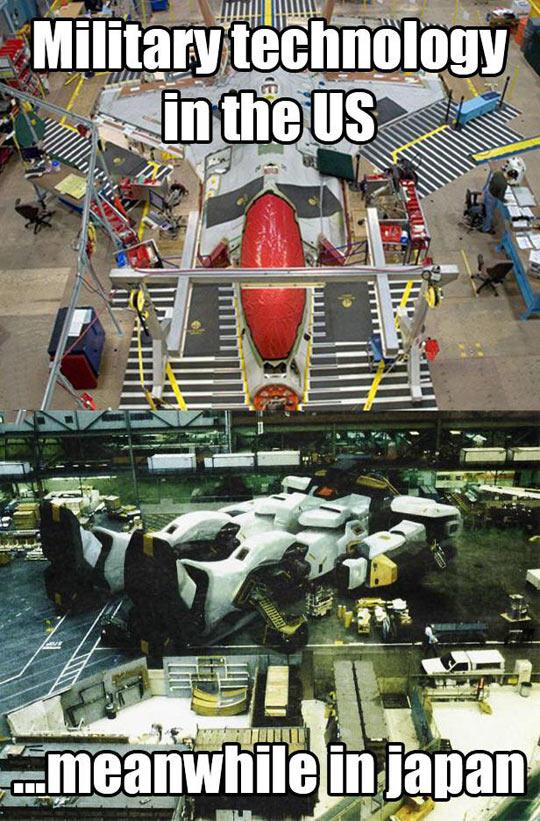 Military Technology: USA Vs. Japan