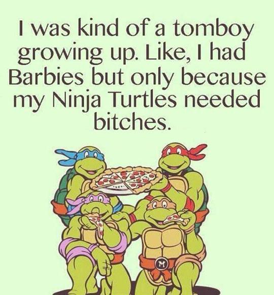 funny-Ninja-Turtles-kid-pizza-Barbies