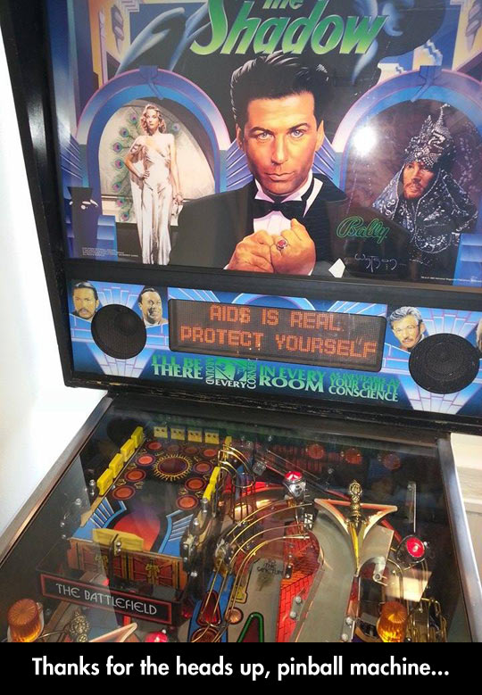 Pinball Warning