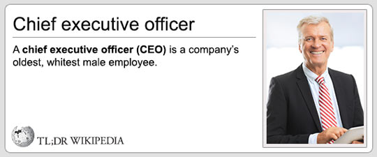 CEO on TL;DR Wikipedia