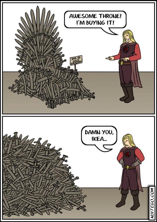 If Ikea Made The Iron Throne