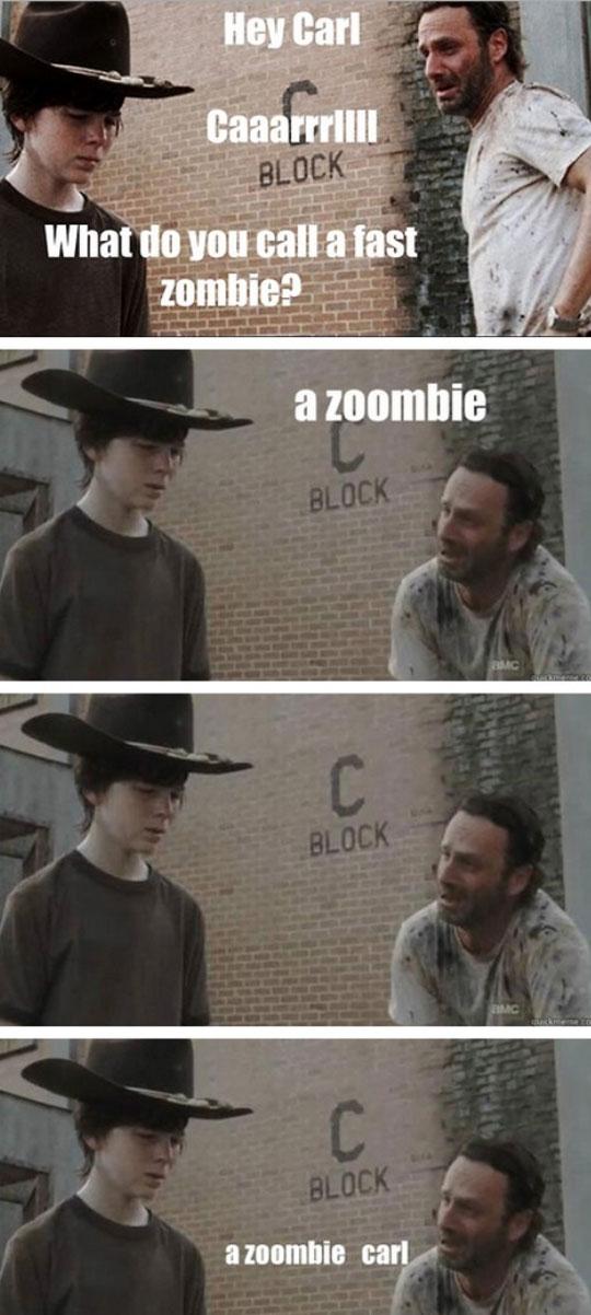 funny-Walking-Dead-fast-zombie-Carl