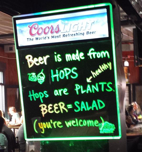 funny-beer-equals-salad-sign-bar