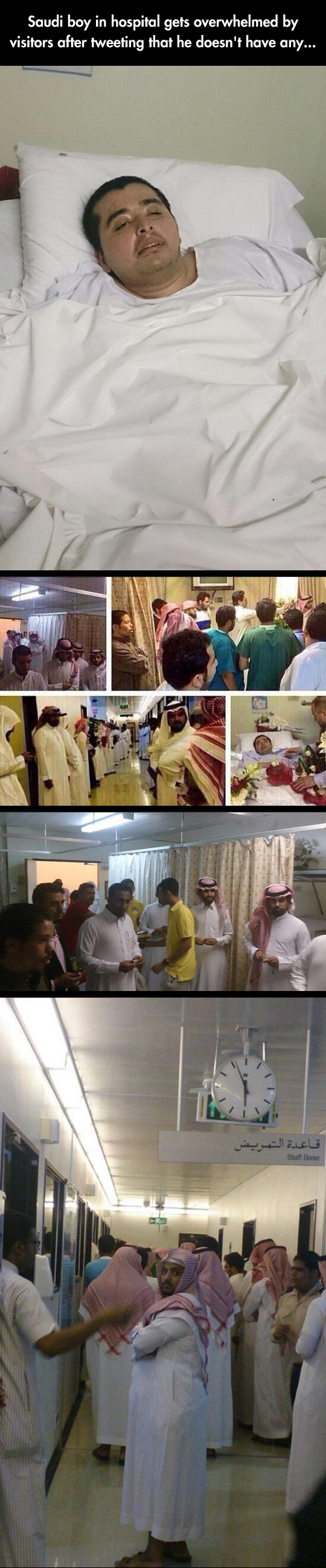 Lonely Saudi Boy In Hospital Gets A Big Surprise