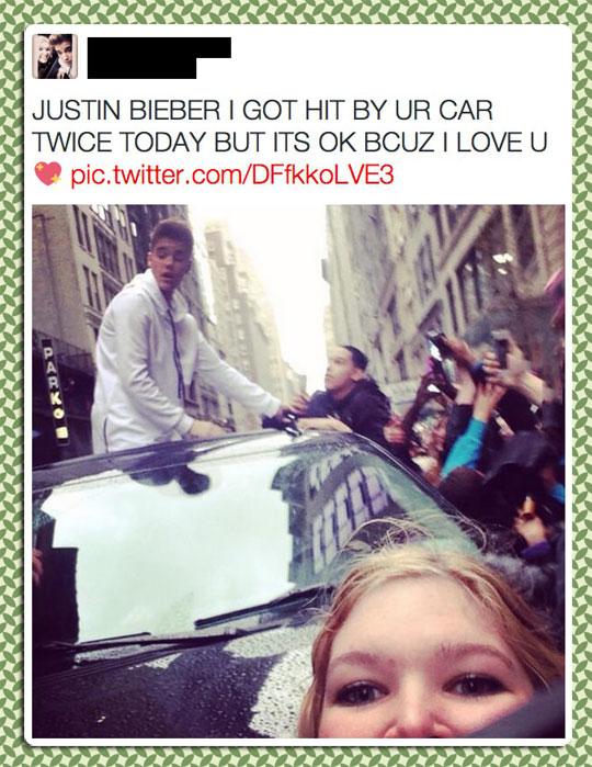 funny-crazy-Justin-Bieber-fan-car-hit