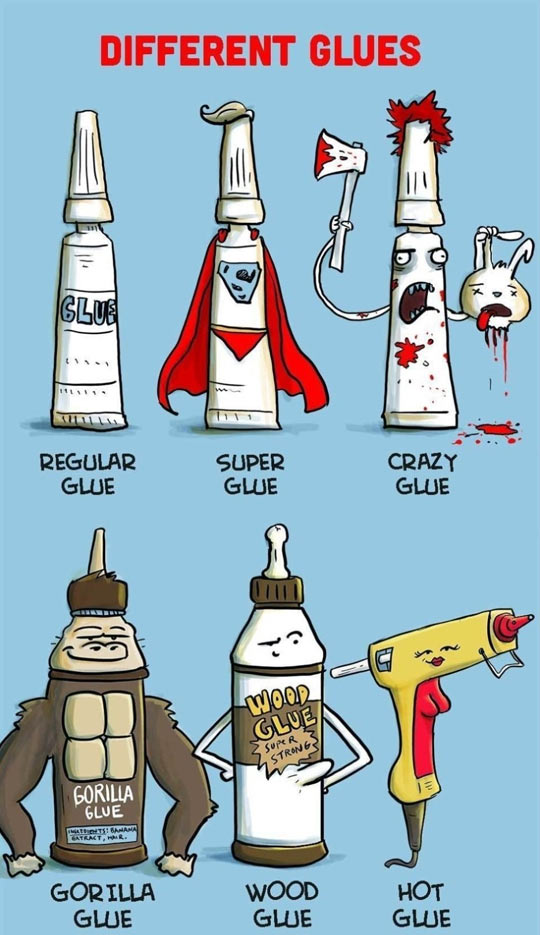Different Types Of Glue