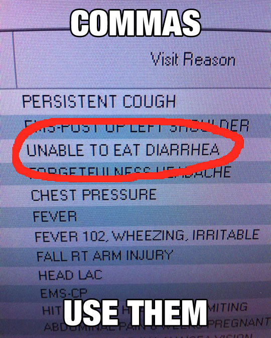 funny-doctor-visit-reason-comma