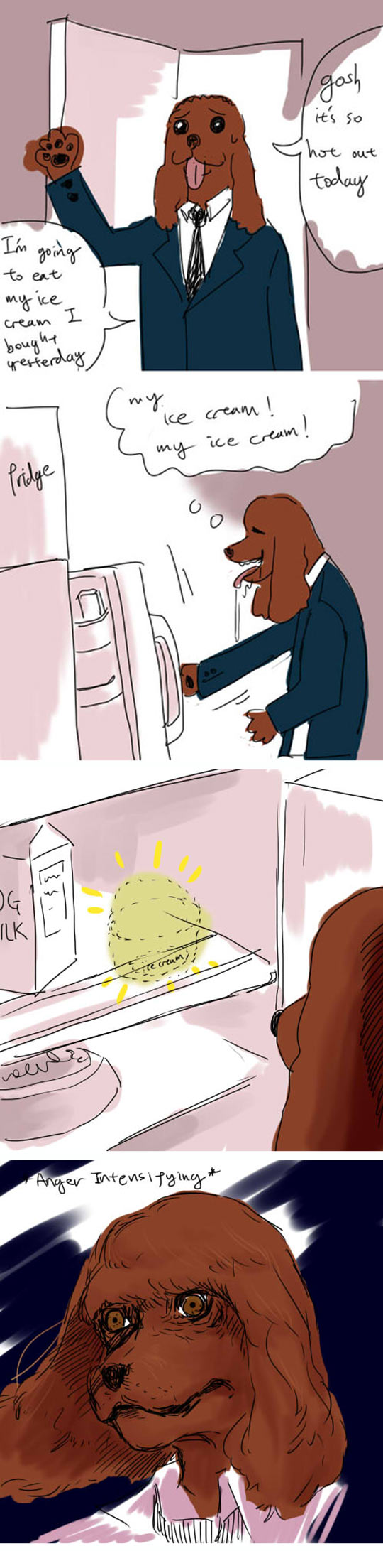 funny-dog-office-fridge-ice-cream-mad-comic