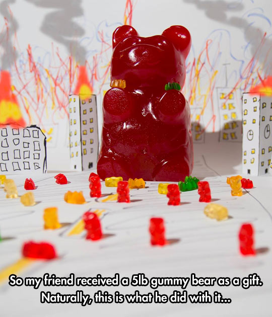 funny-giant-gummy-bear-city